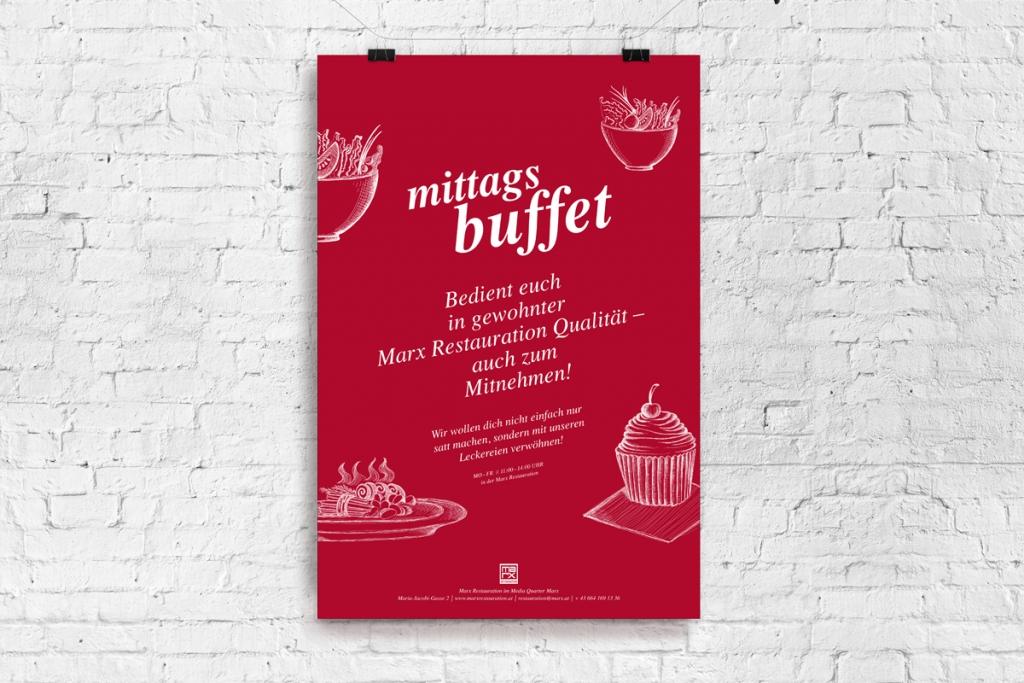 Poster-Design für Marx Restauration
